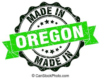 made in Oregon round seal