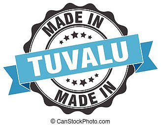 made in Tuvalu round seal