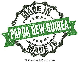 made in Papua New Guinea round seal