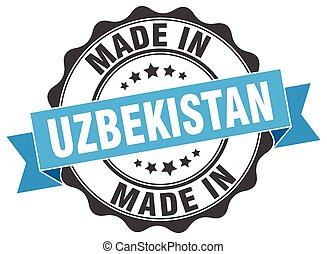 made in Uzbekistan round seal