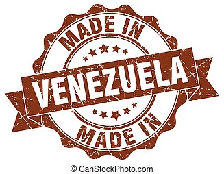 made in Venezuela round seal