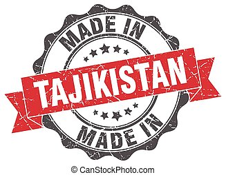 made in Tajikistan round seal