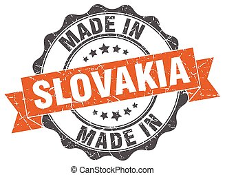 made in Slovakia round seal