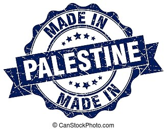 made in Palestine round seal