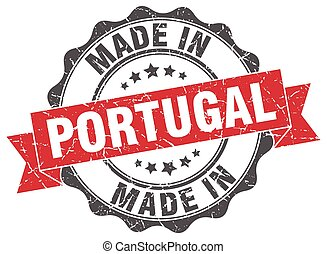 made in Portugal round seal