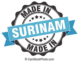 made in Surinam round seal