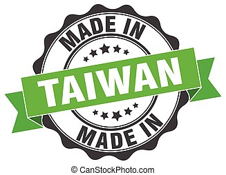 made in Taiwan round seal