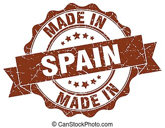 made in Spain round seal