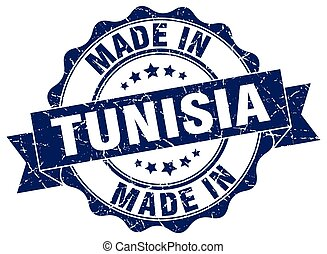 made in Tunisia round seal