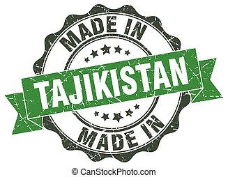 made in Tajikistan round seal