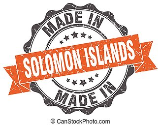 made in Solomon Islands round seal