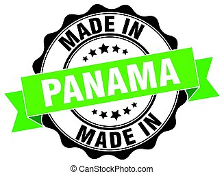 made in Panama round seal