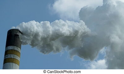 Industrial Smoke Stack Close Up - Close up of industrial...