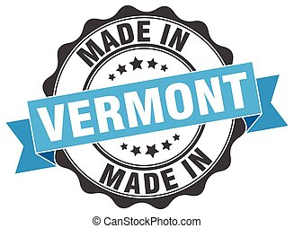 made in Vermont round seal