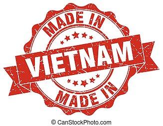 made in Vietnam round seal