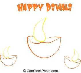 Happy Diwali vector