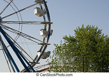 Ferris Wheel at Amusement Park in Lake Okoboji Iowa.