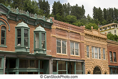Architecture in Deadwood, South Dakota