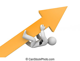Persistence in achieving goals. Advantage. 3d illustration