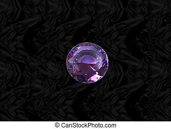 Purple gem on black velvet