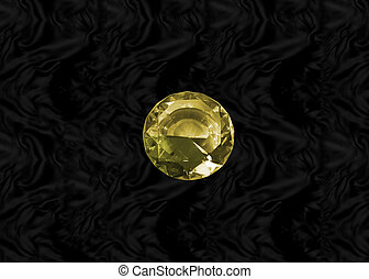 Yellow gem on black velvet