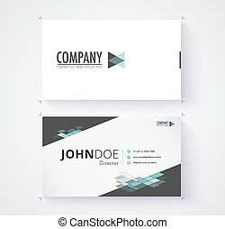 Business card template commercial design. vector...