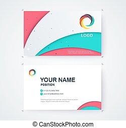 Business name card template commercial design. vector...