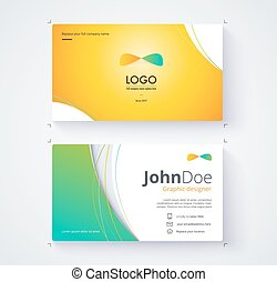Business card template include sample logo and text....