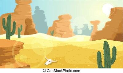 Desert - Looping animation with desert landscape.