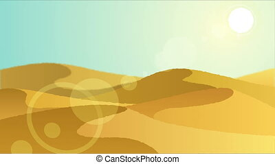 Desert 3 - Looping animation with desert landscape.