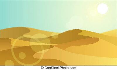 Desert 3 - Looping animation with desert landscape.