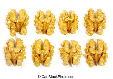 walnuts - Walnuts isolated on white background