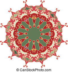Royal creative ornament - Flat color ornament with...