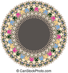 Islamic flat ornament - A flat ornament has been given the...