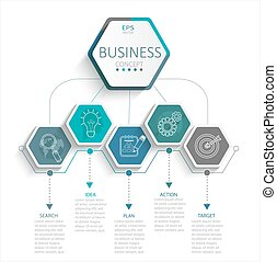Infographic for business. - Vector illustration infographic...