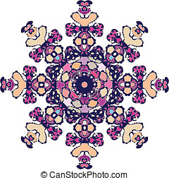Complex and rounded ornament - A complex ornament with flat...