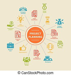 Project Planning. Concept with icons. - Project Planning....