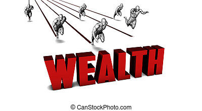 Higher Wealth with a Business Team Racing Concept