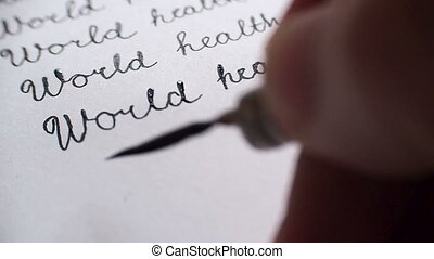 World health day calligraphy and lattering. Tenth line...