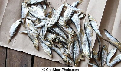 dried fish for cooking at market - Sun dried fish on the...