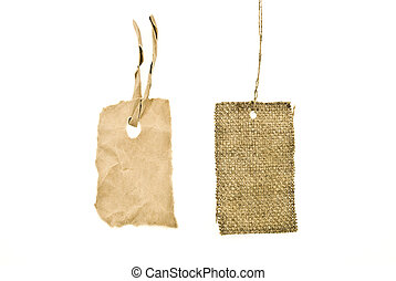 Sackcloth labels