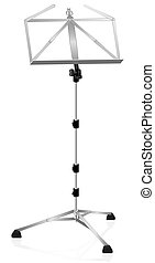 Music Stand Metallic - Music stand - metal style - isolated...