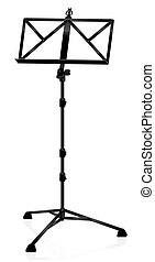 Black Music Stand Plastic - Black plastic music stand -...