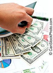 Money in notebook