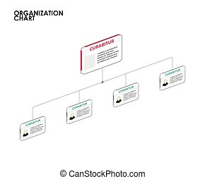 Organization chart infographics with tree. vector...