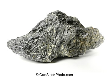 graphite from Bavarian Forest/ Germany isolated on white...