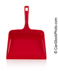 Dustpan isolated on white
