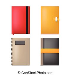 Note Book Paper Collection Set Vector