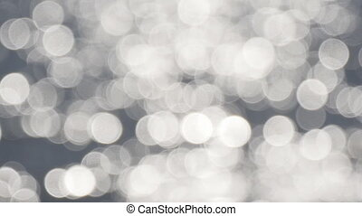 Lights on sea background. Bokeh