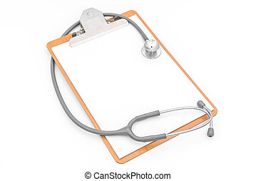 Stethoscope on Patient information